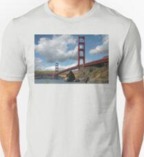 Golden Gate Bridge Corn Field T-Shirt