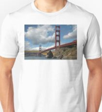 Golden Gate Bridge Corn Field Unisex T-Shirt
