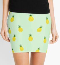 Graphic Pineapple Mini Skirt