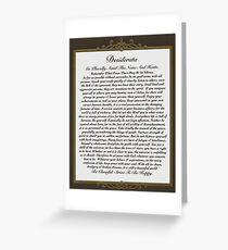 desiderata poem, elegant masculine Greeting Card