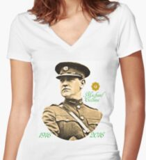 Michael Collins 1916-2016 Women's Fitted V-Neck T-Shirt