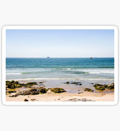 Sand beach in Portugal Sticker