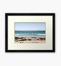 Sand beach in Portugal Framed Print
