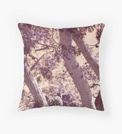 Moody Tree Throw Pillow