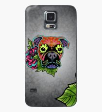 Boxer in Fawn - Day of the Dead Sugar Skull Dog Case/Skin for Samsung Galaxy