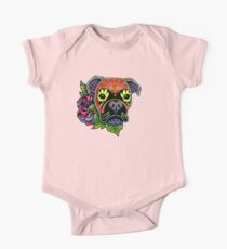 Boxer in Fawn - Day of the Dead Sugar Skull Dog Kids Clothes