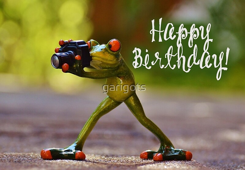 Quot Happy Birthday Photographer 02 Quot Greeting Cards By