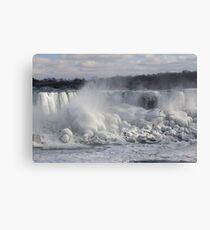 Niagara Falls Spectacular Ice Buildup - American Falls, New York State, USA Canvas Print