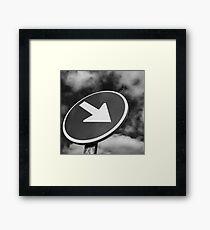 Arrow sign Framed Print