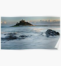 St Michaels Mount, Cornwall, England Poster