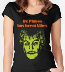 Dr.Phibes has Great Vibes Women's Fitted Scoop T-Shirt