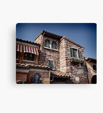 Old Venetian style house with stone walls art photo print Canvas Print