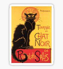 Le Chat Noir Vintage Poster Sticker