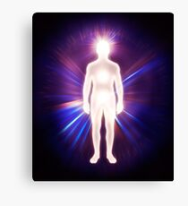 Man ethereal body energy astral body art photo print Canvas Print