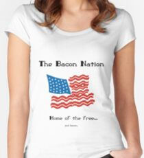 Bacon Nation Women's Fitted Scoop T-Shirt