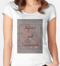 Balanace and Composure Roses Women's Fitted Scoop T-Shirt