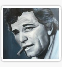 Portrait of Columbo Peter Falk- original painting Sticker