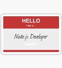 Hello I'm a Node.js Developer Sticker