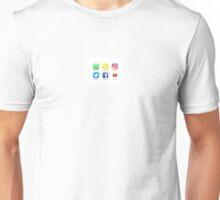 Social media icons Unisex T-Shirt