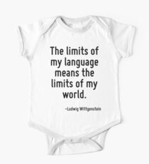 The limits of my language means the limits of my world. One Piece - Short Sleeve