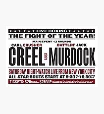 Creel vs Murdock Photographic Print