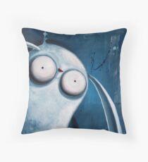 Bunny Greetings Throw Pillow