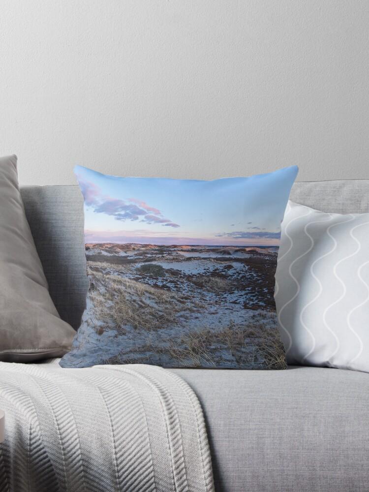 Cape Cod Sandy Neck Dunes Throw Pillow Throw Pillows By FrigidLight Extraordinary Cape Cod Decorative Pillows