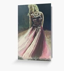 The Pink Dress Greeting Card