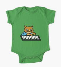 Piano Kitty One Piece - Short Sleeve