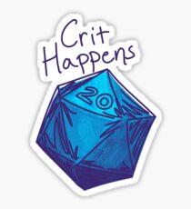Crit Happens D20 Gamer | Natural 20 Sticker