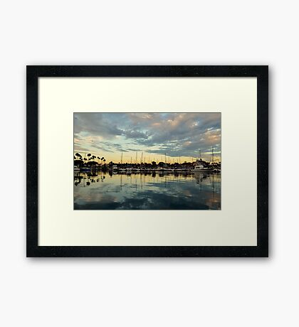 Shoreline Village Marina Framed Print