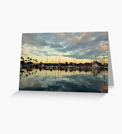 Shoreline Village Marina Greeting Card