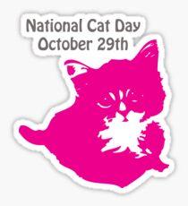National Cat Day Sticker