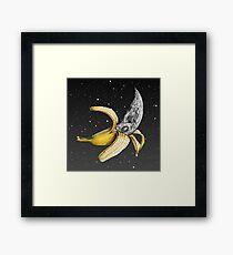 Moon Banana! Framed Print
