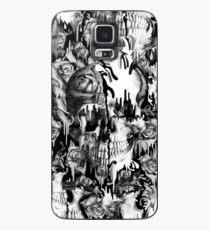 Funda/vinilo para Samsung Galaxy Ido en un chapoteo, patrón de calavera