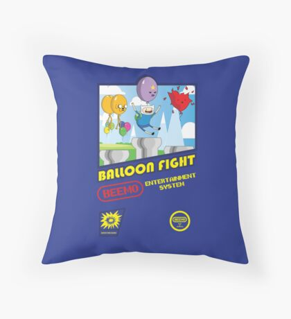 Adventure in Balloon Fighting Throw Pillow