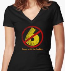 Down with the Sux0rs! Women's Fitted V-Neck T-Shirt