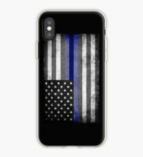The Thin Blue Line - American Police Officer iPhone Case