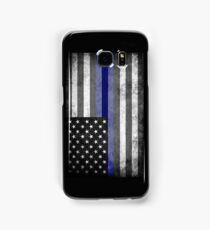 The Thin Blue Line - American Police Officer Samsung Galaxy Case/Skin