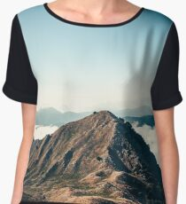 Mountains in the background XXII Chiffon Top
