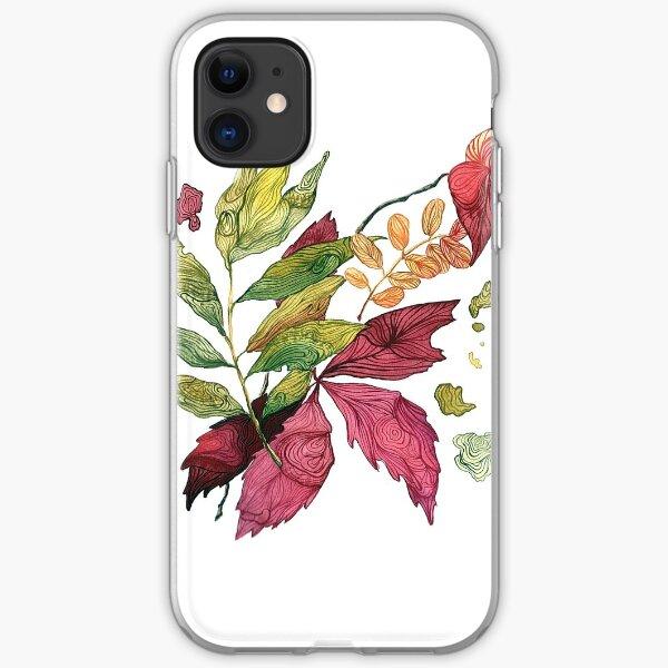 Autumn leaves, watercolor illustration iPhone Soft Case
