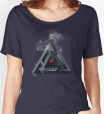 Abstract Geometry: The Portal (White Smoke) Women's Relaxed Fit T-Shirt