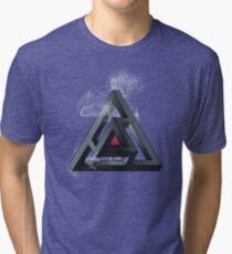 Abstract Geometry: The Portal (White Smoke) Tri-blend T-Shirt