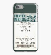 Haunted Mansion Fastpass iPhone Case/Skin