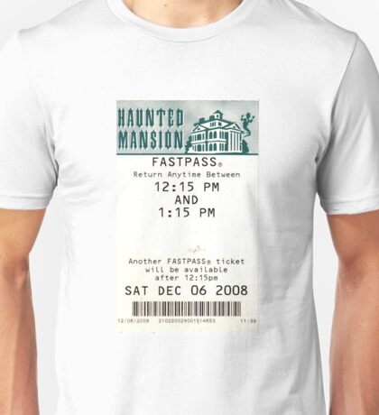 Haunted Mansion Fastpass Unisex T-Shirt