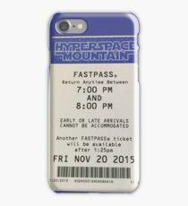 Hyperspace Mountain Fastpass iPhone Case/Skin