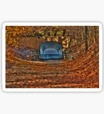 Tunnel Park in Autumn Sticker