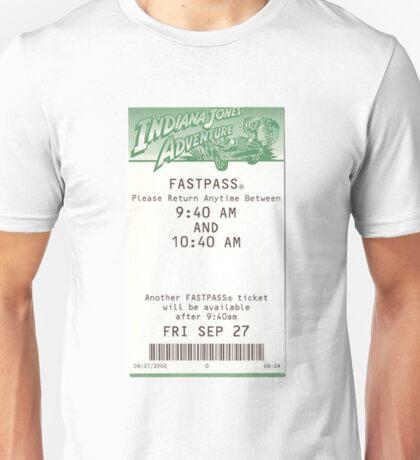 Indiana Jones Adventure Fastpass Unisex T-Shirt