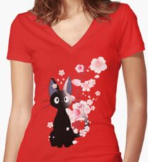 Jiji Women's Fitted V-Neck T-Shirt