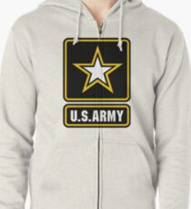 Army strong Zipped Hoodie